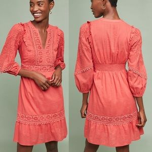 Anthro Akemi+Kin Josephine Embroidered Dress NWOT